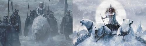 Le chasseur et la reine des glaces Freya en guerre.jpg